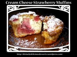 Cream Cheese Strawberry Muffins